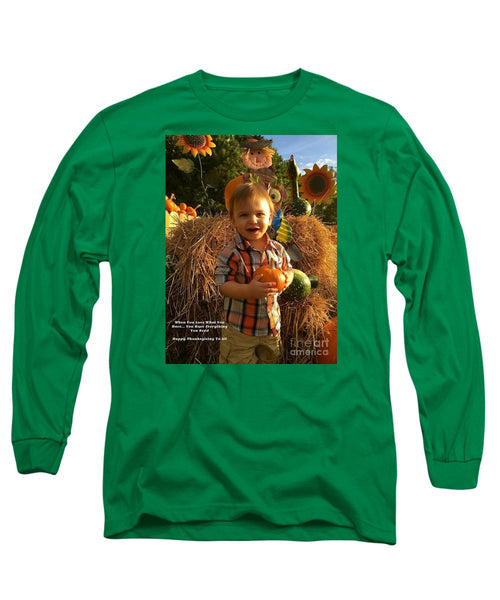 Long Sleeve T-Shirt - Happy Thanksgiving To All