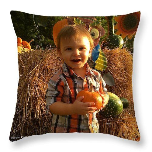 Throw Pillow - Happy Thanksgiving To All