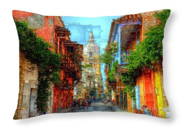 Throw Pillow - Heroic City, Cartagena De Indias Colombia