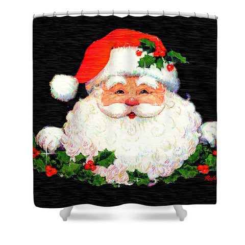 Shower Curtain - Ho Ho Ho Merry Christmas
