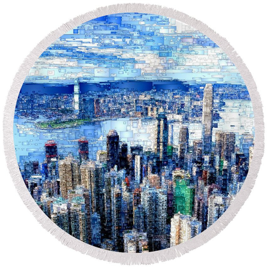 Round Beach Towel - Hong Kong, China
