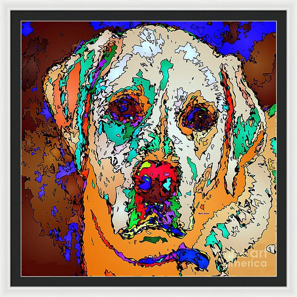 Framed Print - I Love You. Pet Series