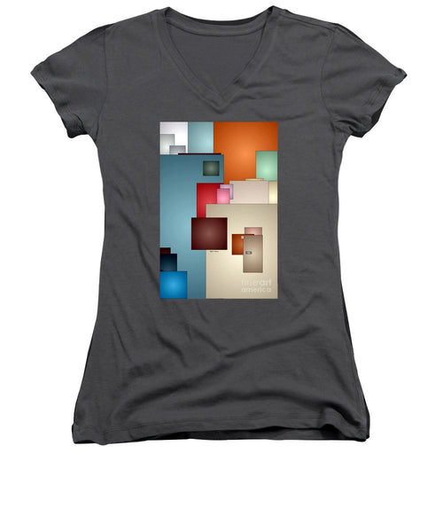 Women's V-Neck T-Shirt (Junior Cut) - Kaleidoscope