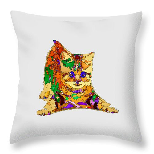 Throw Pillow - Kitty Love. Pet Series