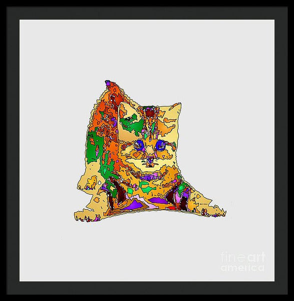 Framed Print - Kitty Love. Pet Series