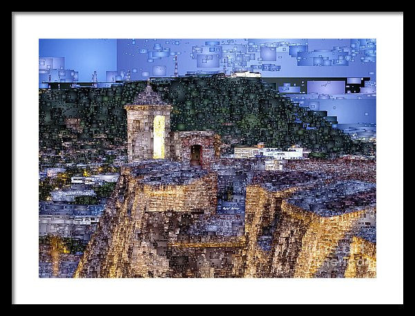 Framed Print - La Popa Hill Convent And Saint Philip Castle, Cartagena Colombia