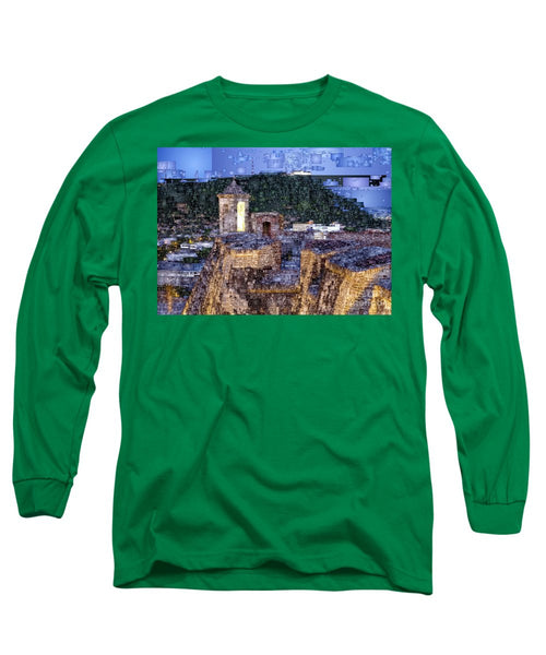 Long Sleeve T-Shirt - La Popa Hill Convent And Saint Philip Castle, Cartagena Colombia