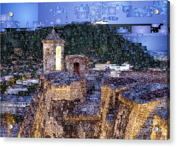 Acrylic Print - La Popa Hill Convent And Saint Philip Castle, Cartagena Colombia