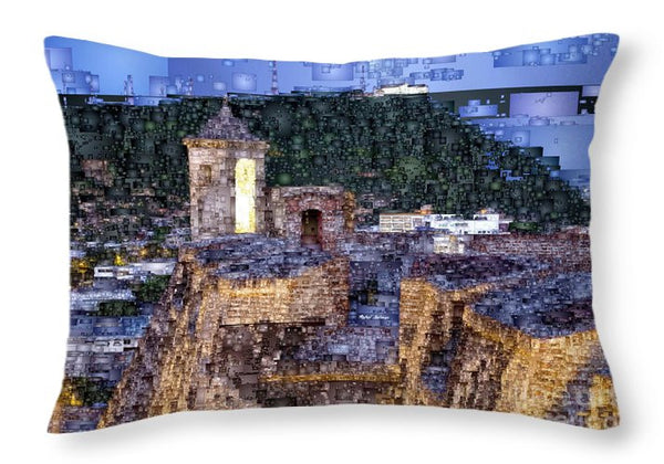 Throw Pillow - La Popa Hill Convent And Saint Philip Castle, Cartagena Colombia