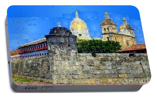 Portable Battery Charger - La Popa Hill Convent And Saint Philip Castle, Cartagena De Indi