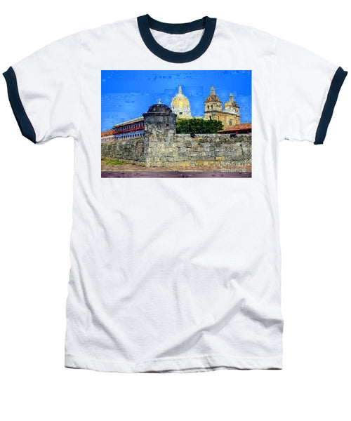 Baseball T-Shirt - La Popa Hill Convent And Saint Philip Castle, Cartagena De Indi
