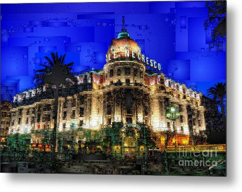 Metal Print - Le Negresco Hotel In Nice France