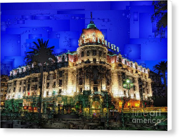 Canvas Print - Le Negresco Hotel In Nice France