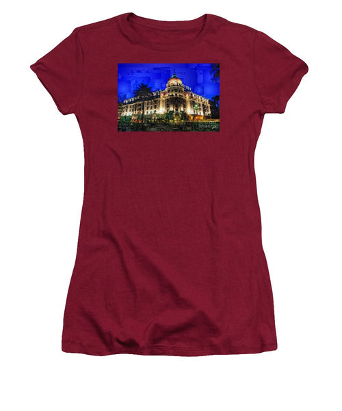 Women's T-Shirt (Junior Cut) - Le Negresco Hotel In Nice France