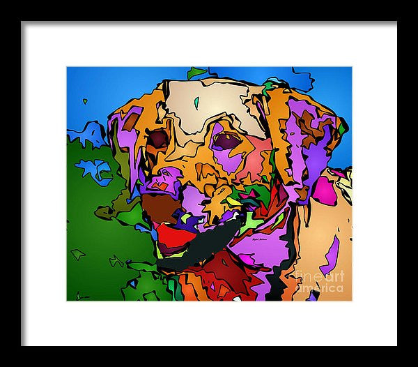 Framed Print - Let's Play. Pet Series