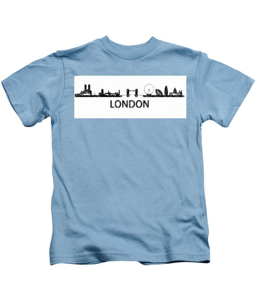 Kids T-Shirt - London Silouhette Sketch