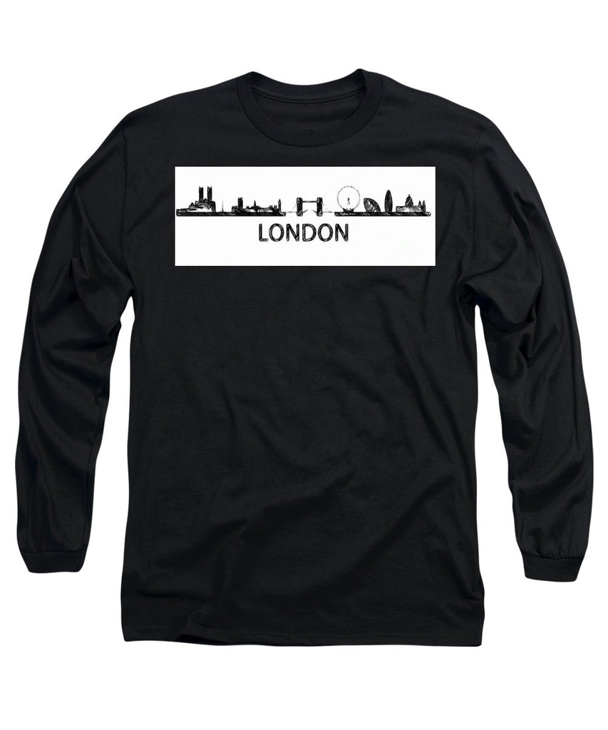 Long Sleeve T-Shirt - London Silouhette Sketch