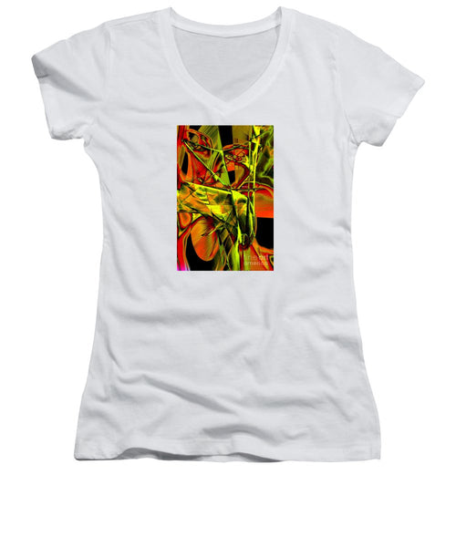 Women's V-Neck T-Shirt (Junior Cut) - Look Who Is In There