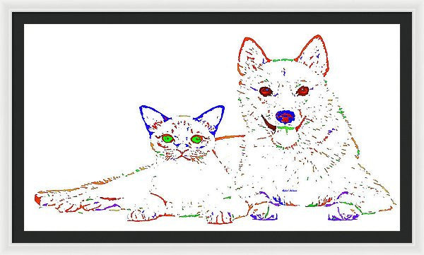 Framed Print - Love Me. Pet Series