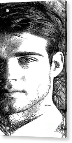Acrylic Print - Male Portrait