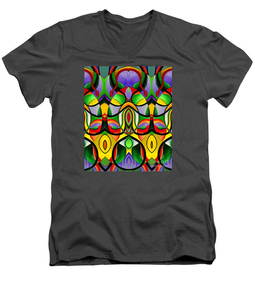 Men's V-Neck T-Shirt - Mandala 9703