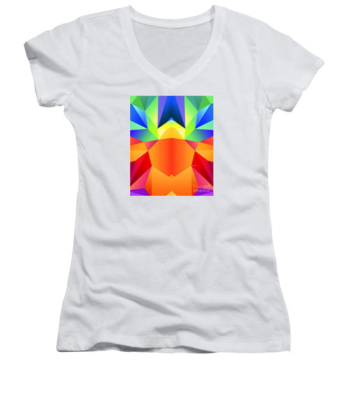 Women's V-Neck T-Shirt (Junior Cut) - Mandala 9705