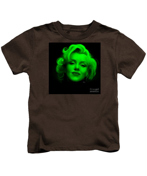 Kids T-Shirt - Marilyn Monroe In Green. Pop Art