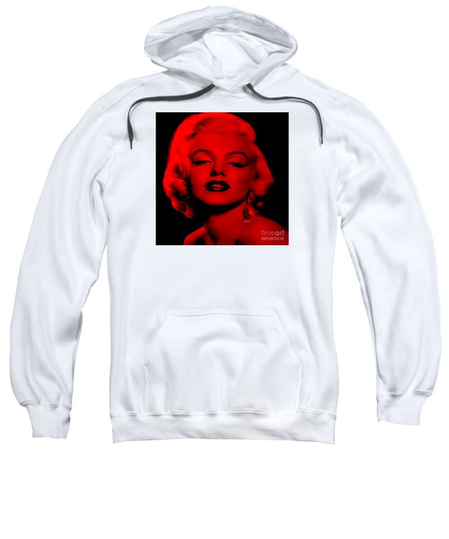 Sweatshirt - Marilyn Monroe In Red. Pop Art