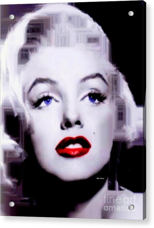 Acrylic Print - Marilyn Monroe In Black And White. Pop Art