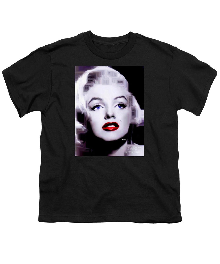 Youth T-Shirt - Marilyn Monroe In Black And White. Pop Art