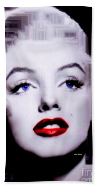 Towel - Marilyn Monroe In Black And White. Pop Art