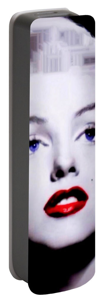 Portable Battery Charger - Marilyn Monroe In Black And White. Pop Art