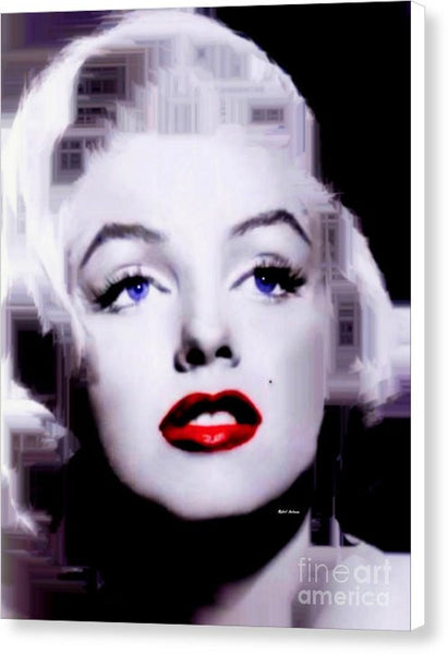 Canvas Print - Marilyn Monroe In Black And White. Pop Art