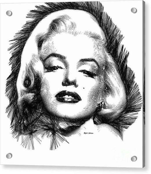 Acrylic Print - Marilyn Monroe Sketch In Black And White 2