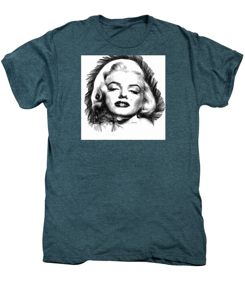 Men's Premium T-Shirt - Marilyn Monroe Sketch In Black And White 2