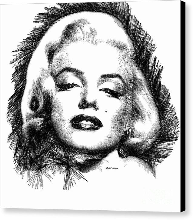 Canvas Print - Marilyn Monroe Sketch In Black And White 2