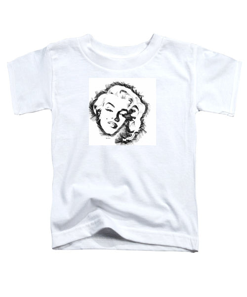 Toddler T-Shirt - Marilyn Monroe Sketch In Black And White
