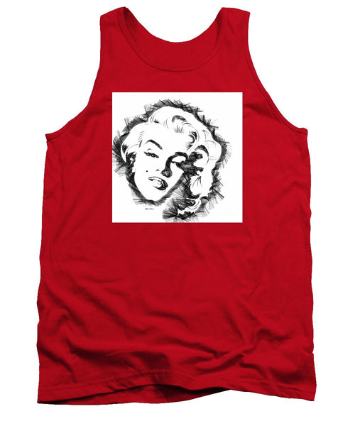 Tank Top - Marilyn Monroe Sketch In Black And White