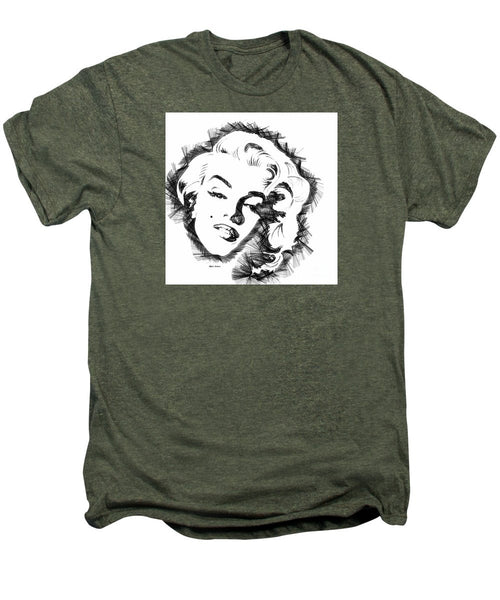 Men's Premium T-Shirt - Marilyn Monroe Sketch In Black And White