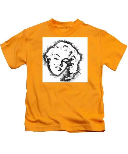 Kids T-Shirt - Marilyn Monroe Sketch In Black And White