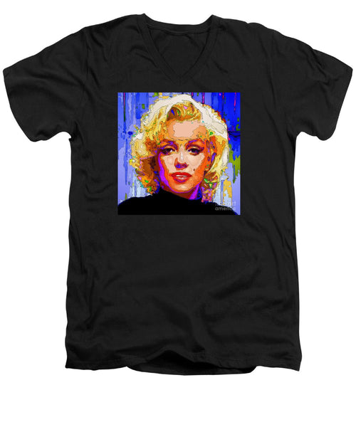 Men's V-Neck T-Shirt - Marilyn Monroe. Pop Art