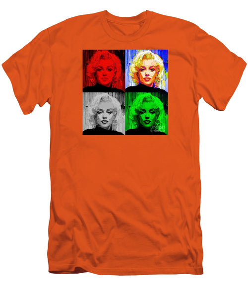Men's T-Shirt (Slim Fit) - Marilyn Monroe - Quad. Pop Art