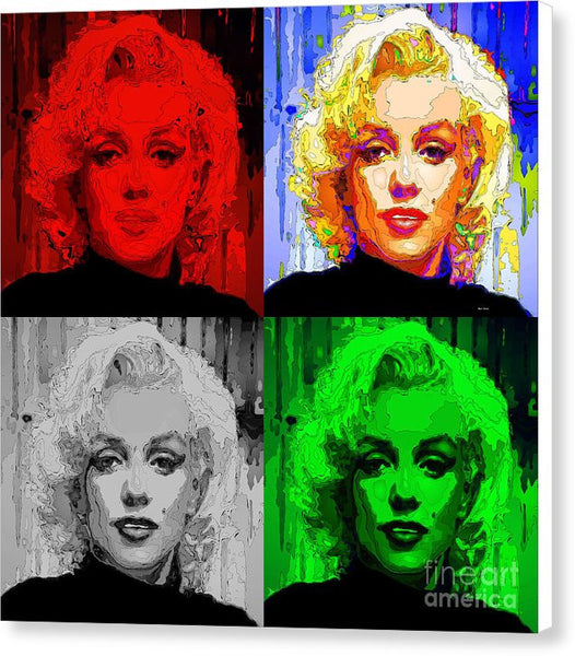 Canvas Print - Marilyn Monroe - Quad. Pop Art