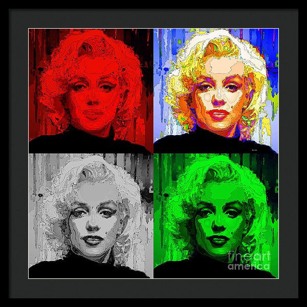 Framed Print - Marilyn Monroe - Quad. Pop Art