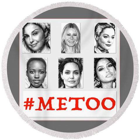#metoo - Round Beach Towel