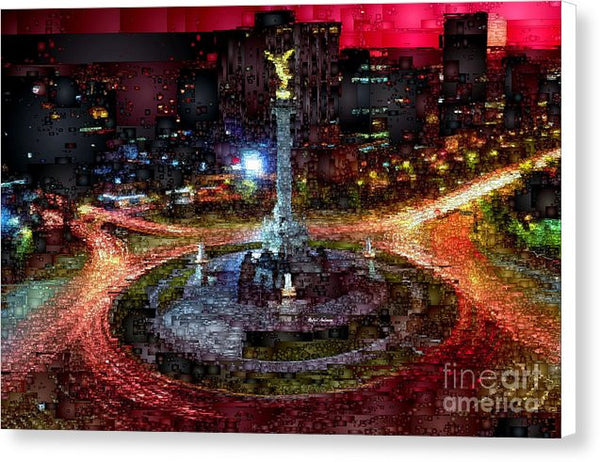 Canvas Print - Mexico City D.f At Night