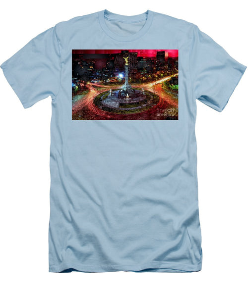 Men's T-Shirt (Slim Fit) - Mexico City D.f At Night