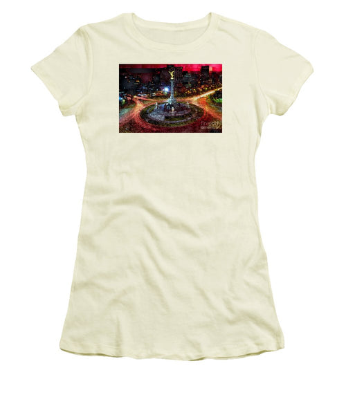 Women's T-Shirt (Junior Cut) - Mexico City D.f At Night