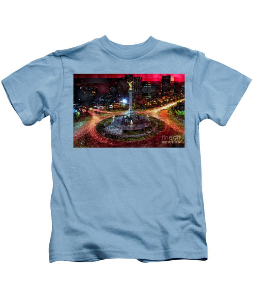 Kids T-Shirt - Mexico City D.f At Night