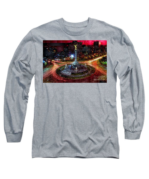 Long Sleeve T-Shirt - Mexico City D.f At Night